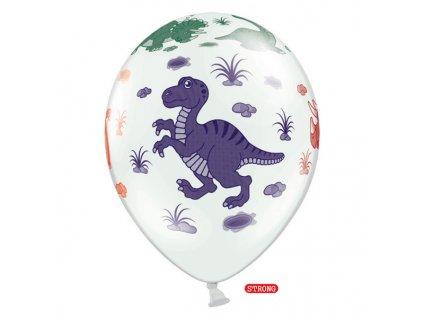 balonek bily dino pastel 30cm SB14P 159 008 01
