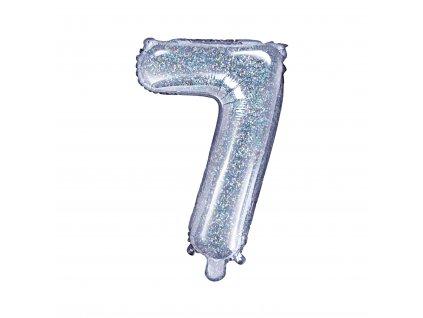 balonek cislo 7 holograficky 35cm FB10H 7 018 01