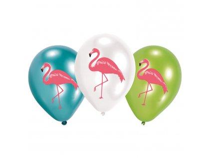 balonky plamenak mix barev 27,5cm 6ks 9903333