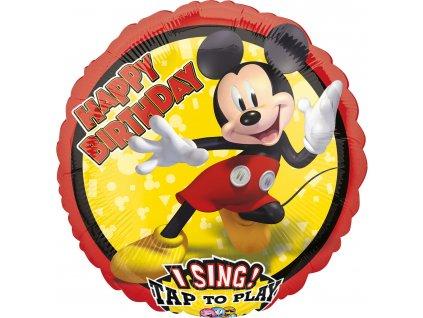 foliovy balonek Mickey Happy Birthday zpivajici 71cm 4070301