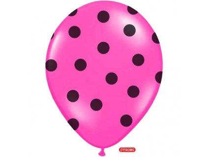 balonek ruzovy puntiky pastel strong 30cm SB14P 223 006B 01