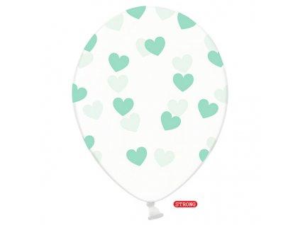 balonky kristal ciste mint srdce strong 6ks SB14C 228 099MI 01