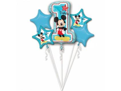 balonkovy buket Mickey 1narozeniny 5ks 3434101