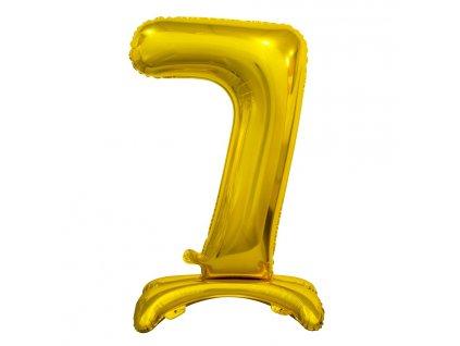 balonek foliovy cislo stojici 7 74cm zlaty metal BC ASZ7 1