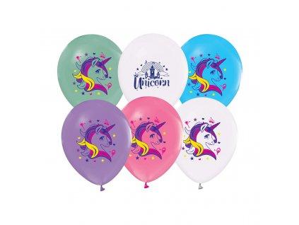Balonky jednorozec mix barev 30cm 5ks GZ JED5 1