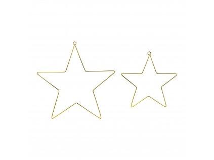 kovove zavesne hvezdy zlate 2ks ZDM1 019ME 01
