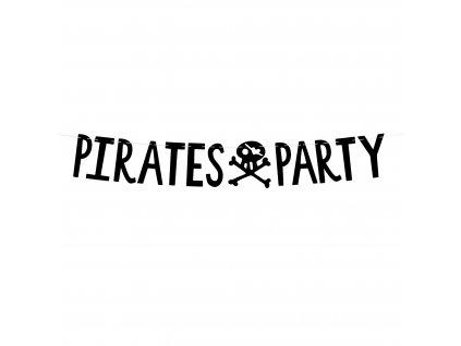 banner Pirates Party cerny 14x100cm GRL86 010 01