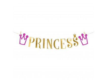 banner princess zlaty 13,5x90cm GRL41 01
