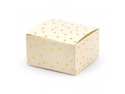 krabicky sv broskvove puntiky 6x3,5x5,5cm 10ks PUDP25 075J 01