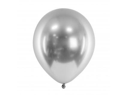balonek leskly stribrny 30cm 01