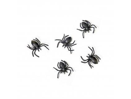 Dekorační pavouci 3x3cm 10ks PHK10 01