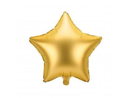 foliovy balonek hvezda zlaty 48cm FB3S 019 01