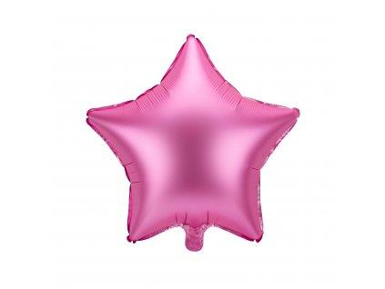 foliovy balonek hvezda ruzovy 48cm FB3S 081 01