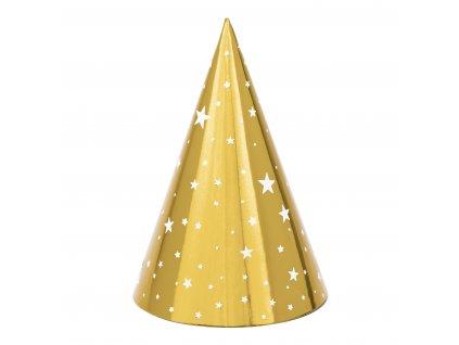 papir cepicky zlate s hvezdami 6ks CPP20 01