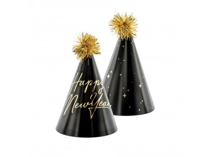 cepicky bambule cerne happy new year 16cm CPP13 01