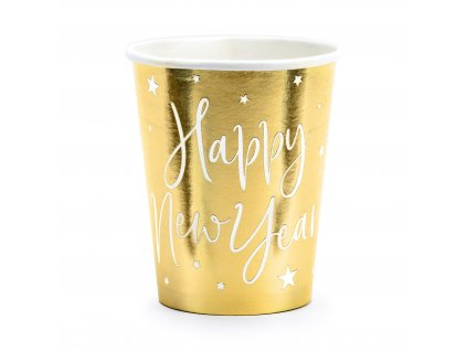 kelimky zlate Happy New Year 220ml 6ks KPP64 019M 01
