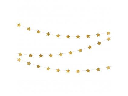 girlanda hvezdy zlate 3,6m GLS8 019M 01