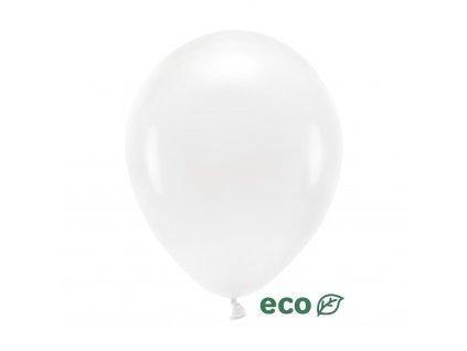 eco balonky pastel bile 26cm 10ks ECO26P 008 10 01