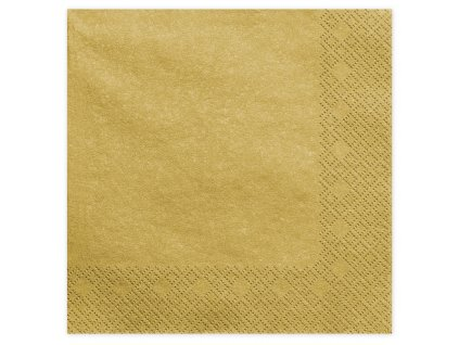 ubrousky zlate metal 40x40cm 20ks SP40 1 019ME 01