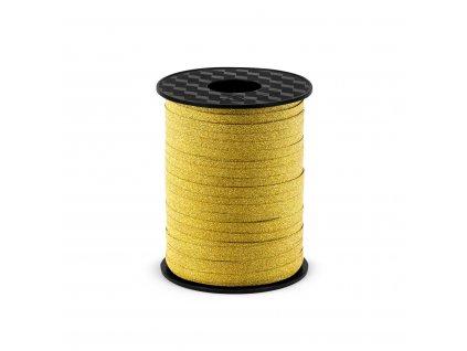 plastova stuha trpytive zlata 5mm 225m PRB5 019 01