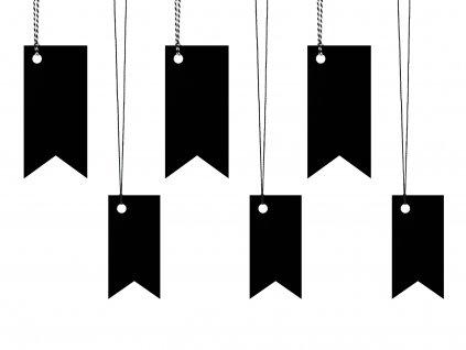 jmenovky vlajky cerne mix 6ks ZDZ8 010 01