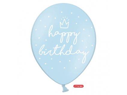 balonky happy birthday modre 30cm 6ks SB14P 244 011 6 01