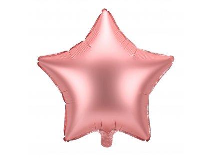 foliovy balonek hvezda ruzovo zlaty 48cm FB3S 019R 01
