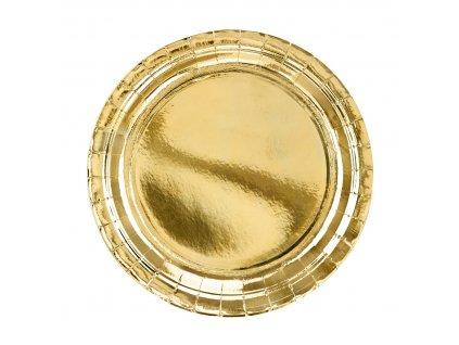 papir talir zlaty 23cm 6ks TPP58 019ME 01