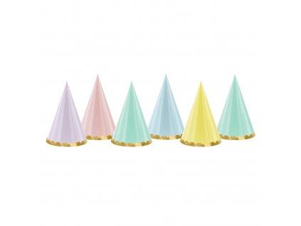 cepicky pastel mix barev zlaty lem CPP24 01
