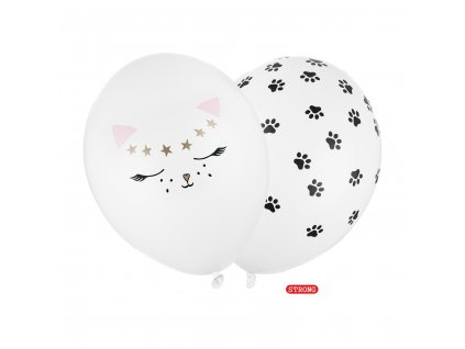 balonky kocka bily 30cm 2ks SB14P 306 008 01