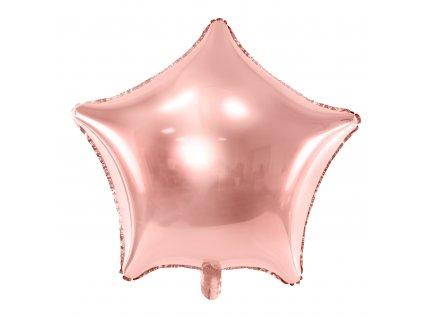 foliovy balonek hvezda ruzovo zlaty 48cm FB3M 019R 01