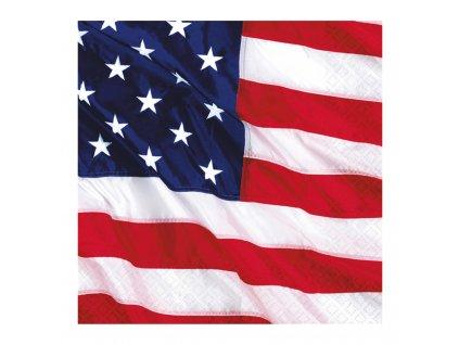 ubrousky motiv vlajky USA 33x33cm 515028 01