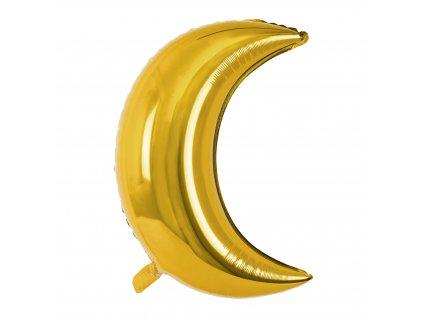 foliovy balonek mesic zlaty 60cm FB16M 019 01