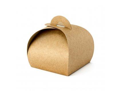 krabicky vysluzka prirodni 8,5x8,5x7cm 10ks PUDP21 01