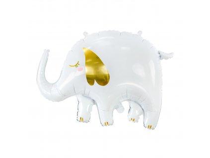 foliovy balonek bily slon 61x46cm FB91 01