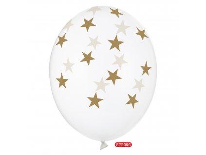 balonek ciry gold hvezdy pastel strong 30cm SB14C 257 099G 01