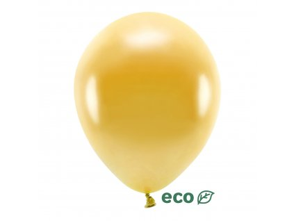 eco balonky metal zlate 30cm 10ks ECO30M 019 10 01
