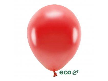 eco balonky metal cervene 30cm 10ks ECO30M 007 10 01