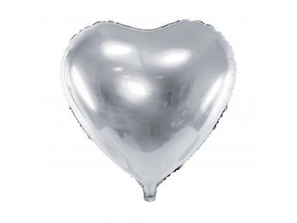 foliovy balonek srdce stribrne 45cm FB9M 018 01