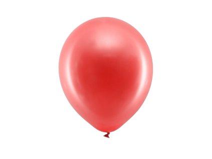 balonek metalicky cerveny 23cm RB23M 007