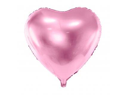 foliovy balonek srdce sv ruzove 61cm FB23M 081J 01