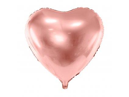 foliovy balonek srdce ruzovo zlate 61cm FB23M 019R 01