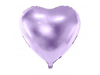 foliovy balonek srdce lila 61cm FB23M 004J 01