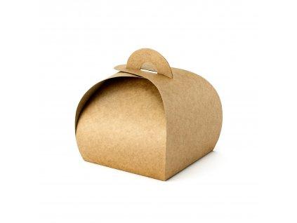 krabicky vysluzka prirodni 6x6x5,5cm 10ks PUDP23 01
