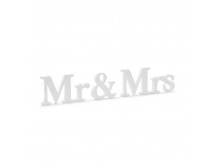 dreveny napis mr mrs 50x9,5cm DN5 008 01