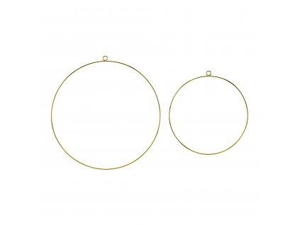 kovove zavesne kruhy zlate 2ks ZDM2 019ME 01
