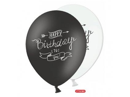 balonky pastel silne mix Happy Birthady 30cm 6ks SB14P 159 008 01