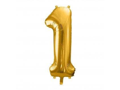 balonek cislo 1 zlaty 86cm FB1M 1 019 01
