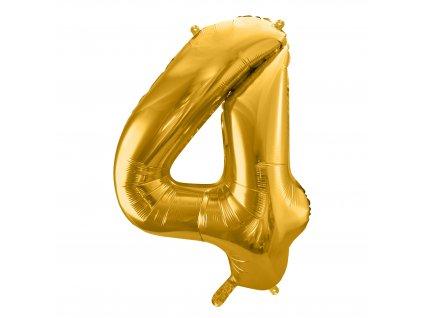 balonek cislo 4 zlaty 86cm FB1M 4 019 01