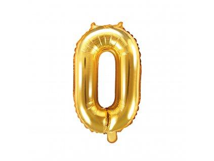 balonek cislo 0 zlaty 35cm FB10M 0 019 01